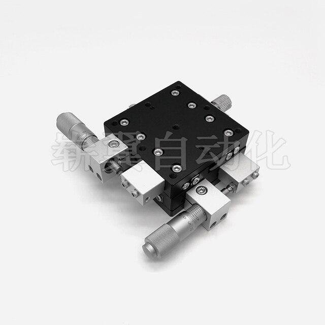 XY eje 60*60mm recorte Estación de plataforma de desplazamiento manual lineal etapa Mesa Deslizante XY60-C XY60-R... XY60-LM LY60 Cruz carril