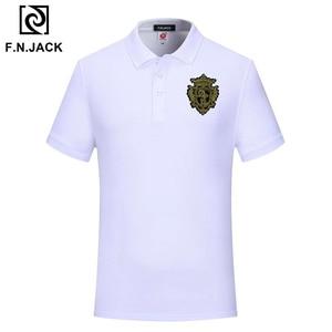 Image 3 - F.N.JACK Mens Casual Polo Shirt Vintage Handmade Trending Short Sleeve Summer Polo for Man