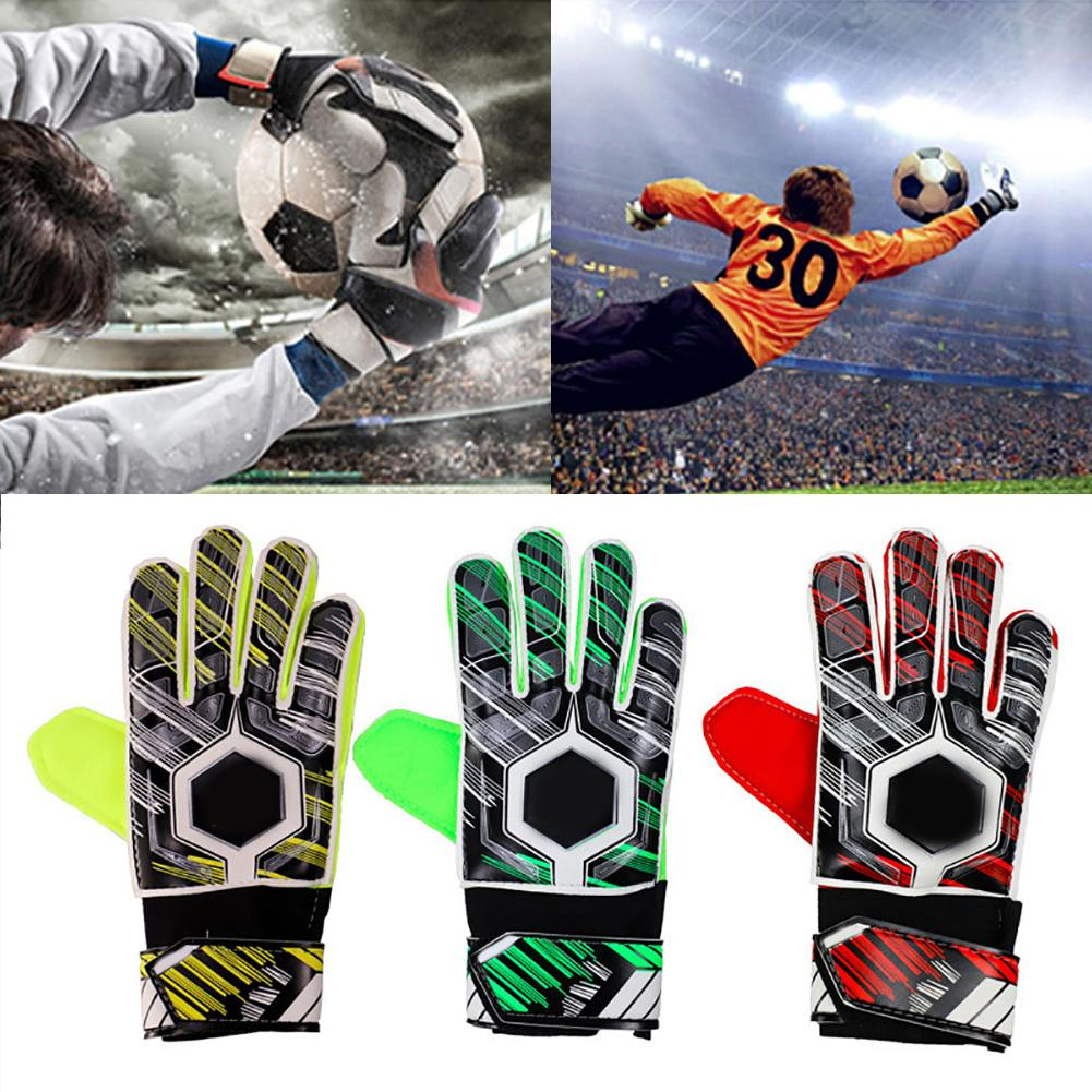 Professional Adult Kids Soccer Goalkeeper Football Latex Slip Gloves Anti-Collision Goalie Full Finger Hand Protection Gloves