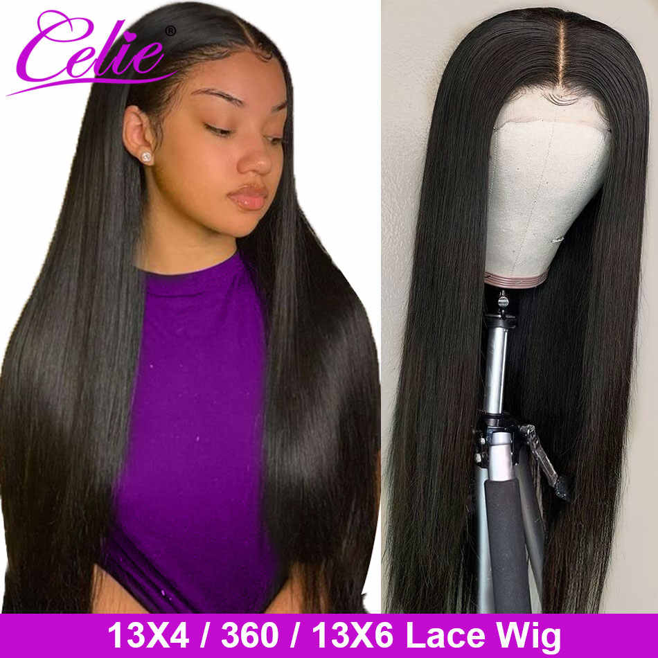 Celie Straight Lace Front Human Hair Wig Pre Plucked With Baby Hair Remy Brazilian 13x6 Lace Front Wig 360 Lace Frontal Wig