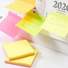 100 sheets 75*75mm Size color paper Memo Pad Sticky Notes Bookmark Point it Marker Memo Sticker Office School Supplies Notebooks