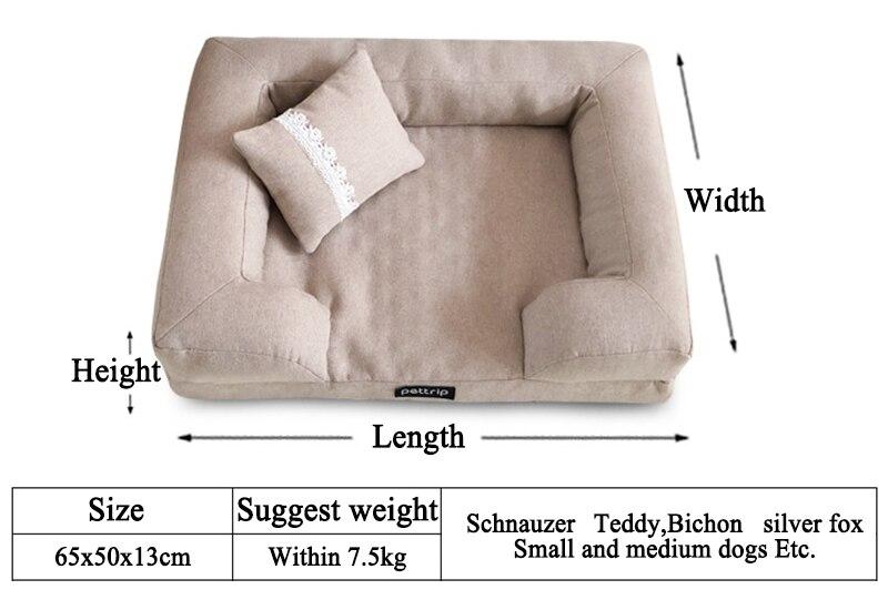 cão sofá canil quadrado travesseiro para pequenos