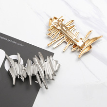 Xugar Hair Accessories Combs With Hollow Loop for Women Gold Metal Silver Color Tassel Hairpin Irregular Geometric Hairgrip