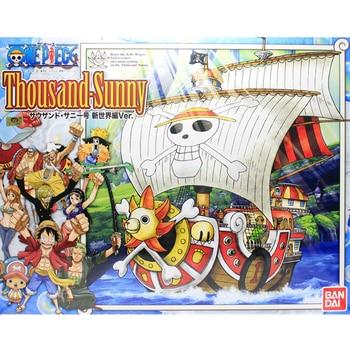 Original Bandai One piece Pirate Boat Sunshine Sunny Qianyang New World Assembly Action Figureals Brinquedos Model Dolls
