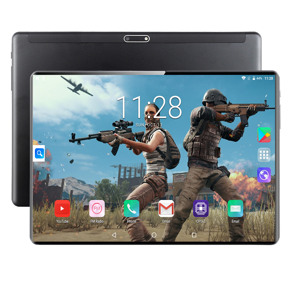 Tablet Android OS Support Google Play Store Dual SIM Card 4G WiFi GPS Super Tempered Glass Screen IPS 10 Inch Tablet 6G+128GB