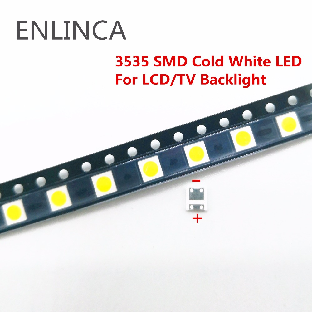50 PCS For <font><b>LG</b></font> <font><b>LED</b></font> LCD Backlight TV Application High Power <font><b>LED</b></font> Backlight 2W 6V 3535 <font><b>SMD</b></font> <font><b>LED</b></font> Cold Cool white image
