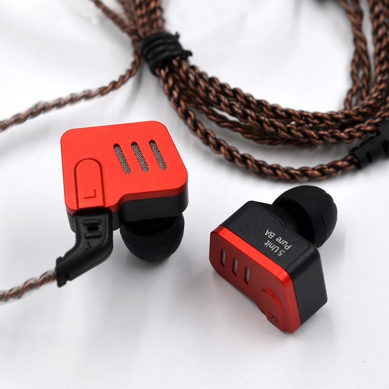 KZ BA10 5BA HIFI basse écouteurs dans l'oreille moniteur écouteur Sport casque suppression du bruit écouteurs câble de remplacement AS10 ZS6-in Écouteurs et casques from Electronique    3