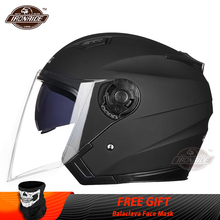 JIEKAI קסדת אופנוע פנים פתוחים אופנוע קסדת Moto קסדות Motocicleta Cascos Para Motorbiker קטנוע רכיבה קסדה