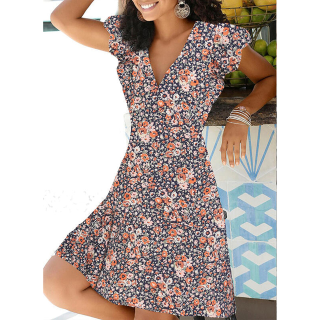 spring mid-calf dress great prints fits smoothly 6
