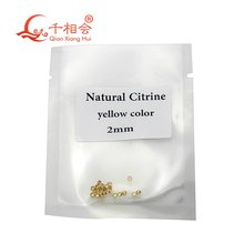 Круглая форма dia mond cut красивый натуральный цитрин желтый