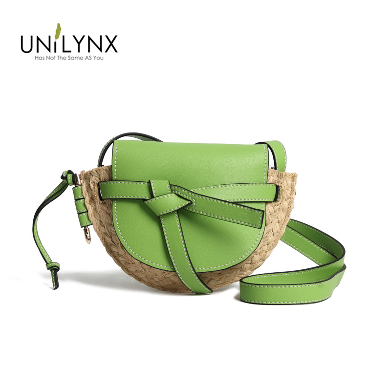 Летняя модная женская сумка, кожаная сумка, Соломенная Сумка тоут, винтажная женская маленькая сумка Кроссбоди с клапаном, плетеная круглая
