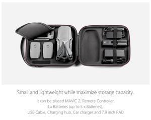 Image 3 - Водонепроницаемая портативная Наплечная Сумка PGYTECH из ПУ, коробка для хранения, сумка для DJI Mavic 2 Pro /Zoom Drone, чехол для переноски, аксессуары