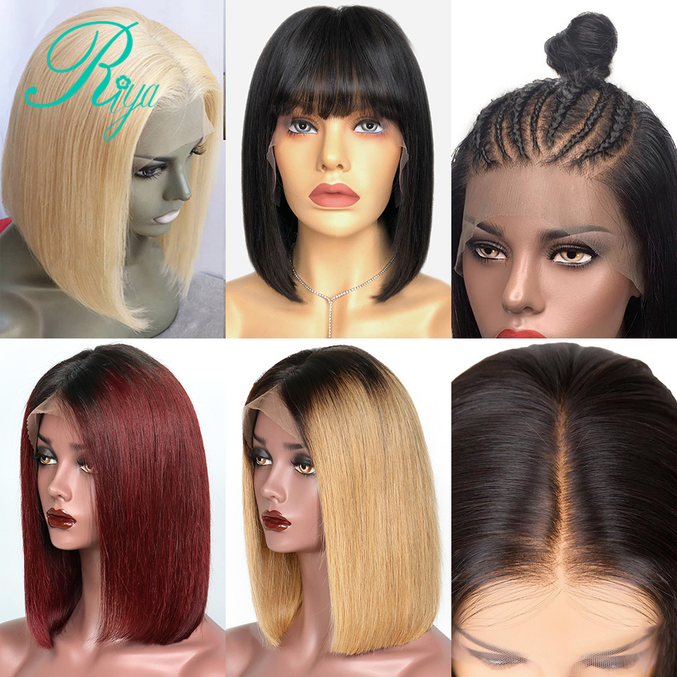 13X6 Lace Front Human Hair Wigs For Women 150 Ombre Human Hair Wig Honey Blonde 27