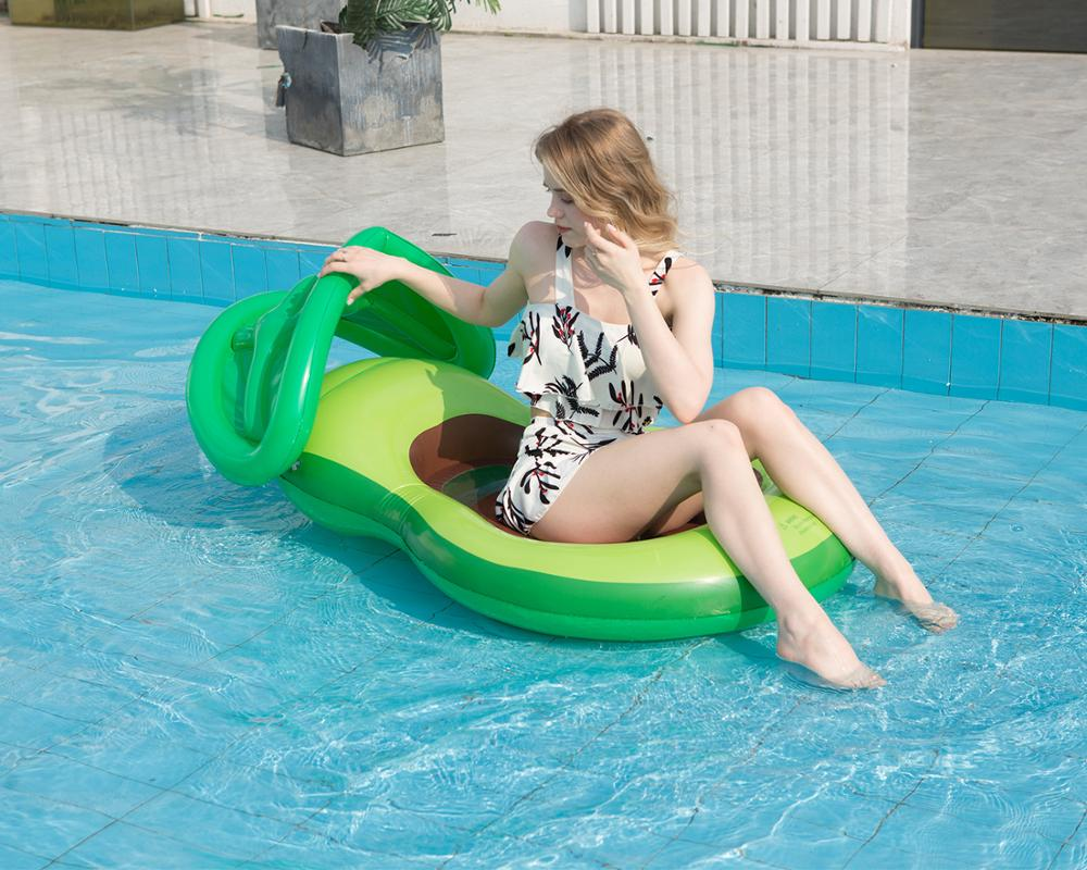 Inflatable avocadoWater adult recliner inflatable net floating Swimming Mattress sea swimming ring Pool Party Toy lounge bed swi 3