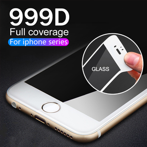Full Cover Protective Glass on the For iPhone X XS Max XR 11 Tempered Glass For iPhone 7 8 6 6s Plus 11 Pro max Screen Protector(China)