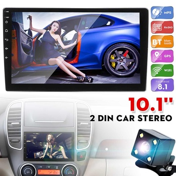 Universal 1+16g 10.1 Car Multimedia Player 2 Din Stereo for Android 8.1 Wifi bluetooth GPS Nav Radio Player Touch Screen image