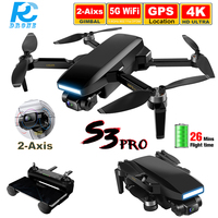 Dron S3 Pro con cámara HD 4K, profesional, GPS, 5G FPV, Quadcopter plegable sin escobillas de larga distancia, SG108, PK L900