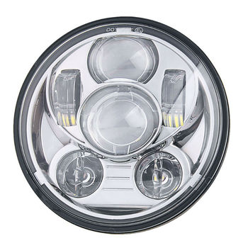 1PC 5.75inch Round 45W Black/Chrome LED Headlight with Hi-Lo Beam for Iron 883 XL883N Motorcycle Headlight Assembly