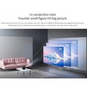 Image 3 - Youpin Fengmi Smart Lite DLP 3D Proiettore 550Ansi Lumen 1080P Supporto 4K Android 2 + 16GB smart Home, Casa Intelligente Proiettore Del Teatro