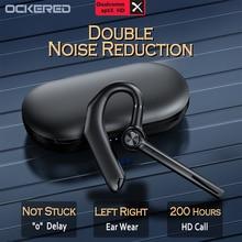 Single Ear Business Auto Oorhaak V5.0 Bluetooth Oortelefoon Slimme Dual-Mark Ruisonderdrukking Sport Headset Met 800Mah Opladen doos