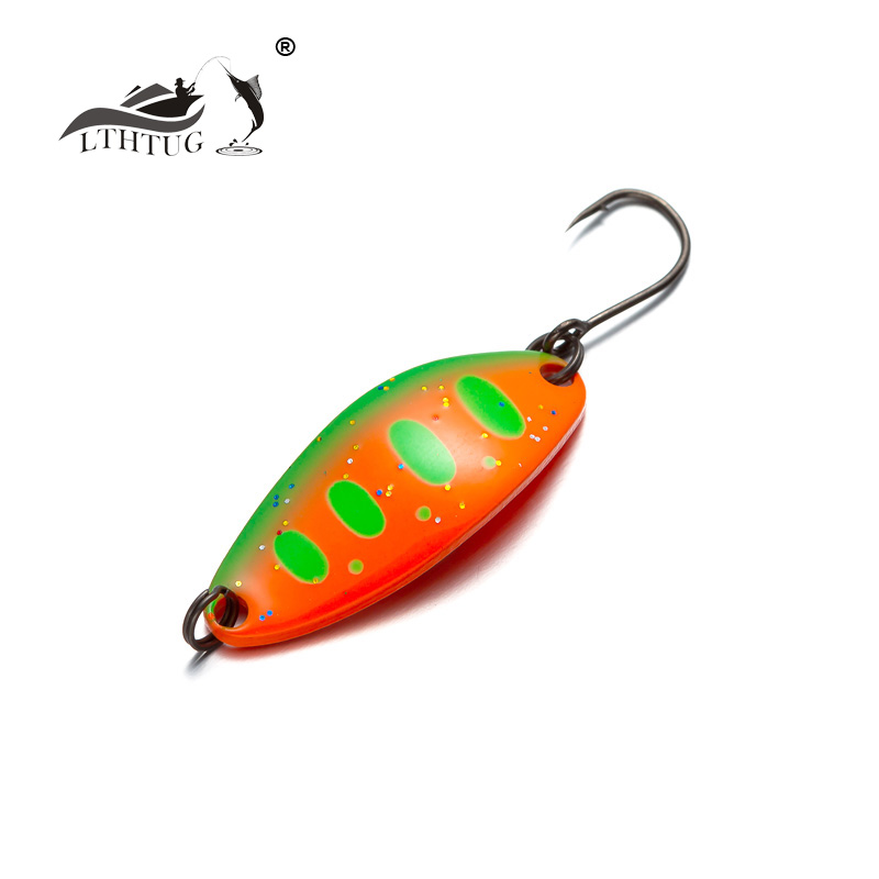 LTHTUG Pesca Copper Spoon Bait 3.5g 32mm Metal Fishing Lure With Single Hook Hard Bait Lures Spinner For Trout Perch Chub Salmon