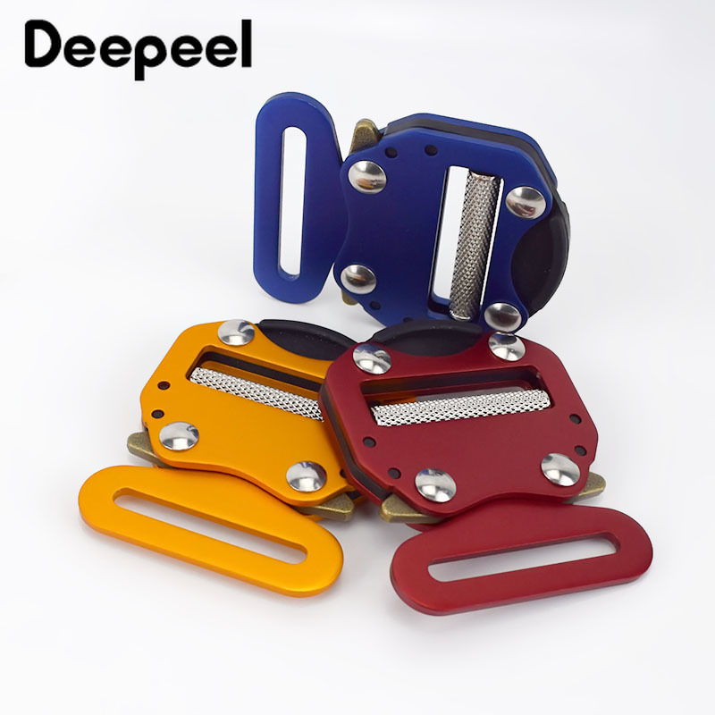 Deepeel 1pc 45mm Metal Aluminum Quick Release Buckle Nylon Webbing Belt Buckle Head DIY Bag Strap Hardware Decor Accessory YK048