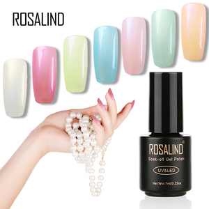 ROSALIND Primer Gel Varnish Pearl Gel Polish Soak Off UV LED Gel Nail Polish Base Coat No Wipe Top Color Gel Polish