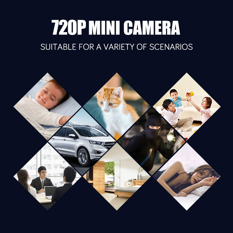 720P Mini IP WIFI Wireless Camera Camcorder Wireless Home Security DVR Night Vision Device Action Small Camera With Memory Card