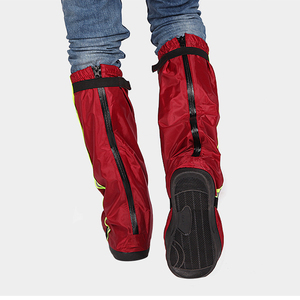 Men Women Non Slip Rain Boot Motorcycle Reusable Thick Bottom Protectors Waterproof Shoe Cover Long Oxford Cloth Outdoor Adults