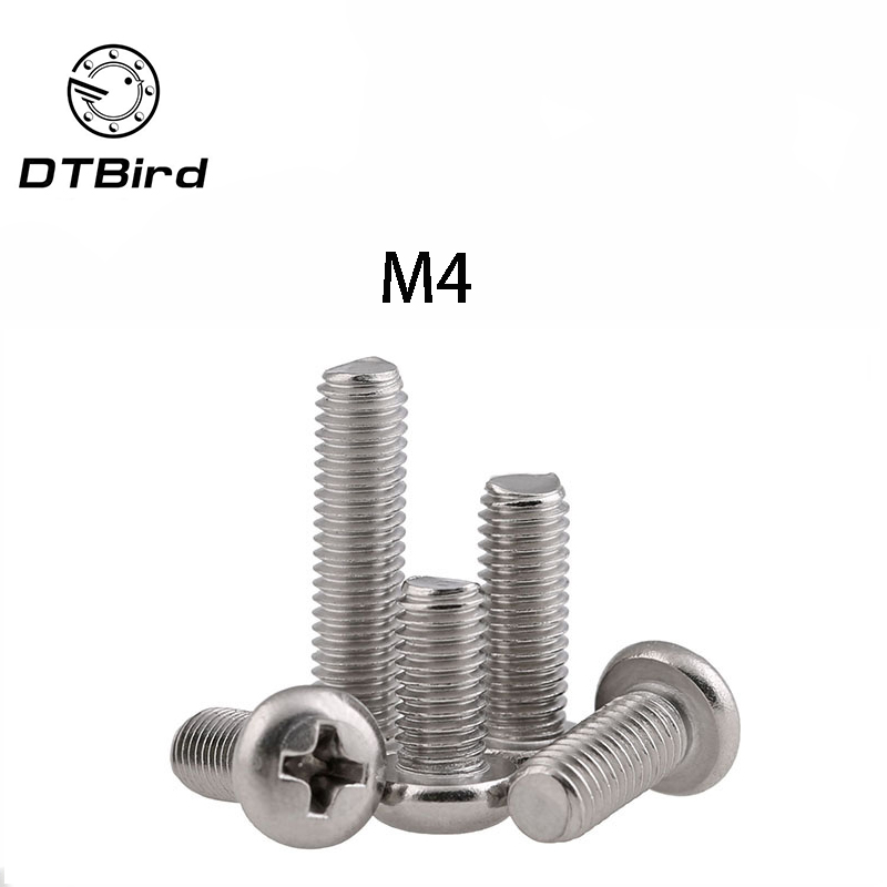 GB818 Stainless Steel Phillips Cross recessed pan head Screw <font><b>M4</b></font>*(4/5/6/8/10/12/14/16/18/20/25/<font><b>30</b></font>/35/40/45/50/55/60/65/70) DT2 image