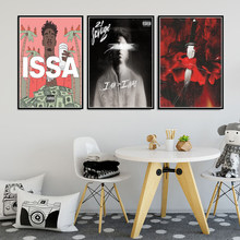 Pintura em tela 21 selvagem rap música álbum estrela hip hop rapper eu sou issa poster imprime arte fotos da parede sala de estar decoração casa