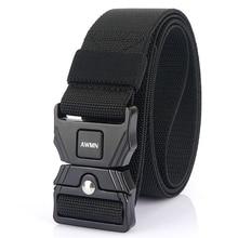 Belt AWMN for Men Hard-Zinc-Alloy Pluggable Buckle Outdoor Tactical Comfortable Wear-Resistant