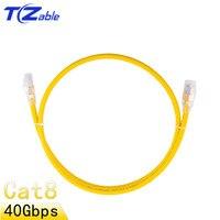 Cat8 Ethernet Cable RJ 45 Cable de red S/FTP parche Cable Lan RJ45 Cable de parche para el Router portátil Cables 0 25 M-80 M