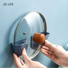 Pan-Cover Rack Utensil Wave-Shelf Storage-Tools Space-Saving Kitchen Jo Life No-Punching-Pot