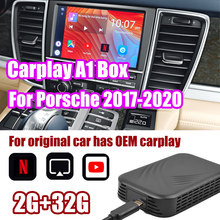 Coche TV para coches caja Carplayer sistema Android para Porsche macho y Multimedia Android enlace espejo para Apple caja TV vehículo jugar