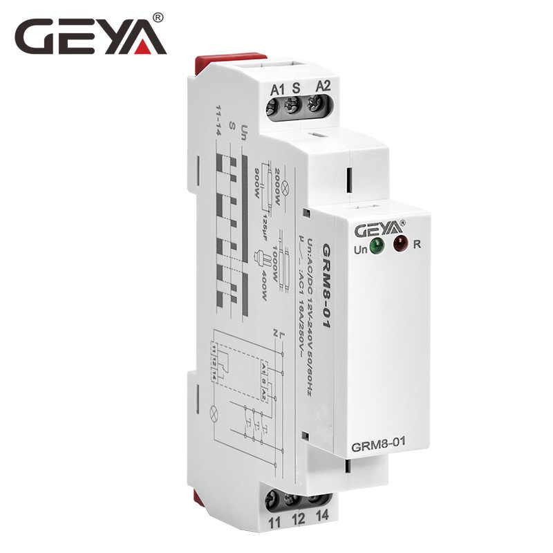 Relais électronique DC12V 24V 16A de relais d'impulsion du relais 220V de verrouillage de Rail de GEYA Din avec le certificat de la CE CB