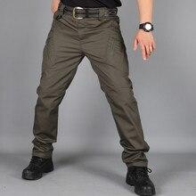 Водонепроницаемые Брюки карго мужские брюки-карандаш Военная мульти-уличная одежда с карманом джоггеры хип-хоп камуфляж тактические брюки Кемпинг Альпинизм