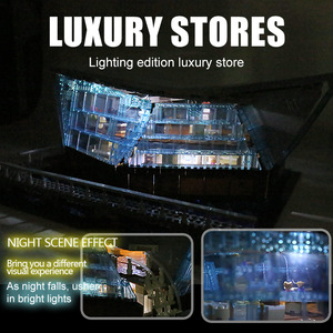Image 2 - 601099 MOC Architecture Building Block The Singapore Boutique Clothing Jewelry Store WIth Led Part Assembly Brick Kids Toys Gift