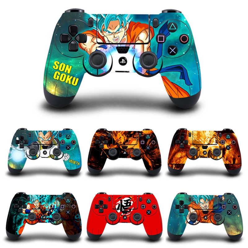 2 Pcs/lot Dragon Ball Skin Protective Cover Sticker For Playstation 4 PS4 Pro Slim Controller Gamepad Vinyl Stickers