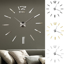 Wall-Clock Room-Decoration Living-Room Digital Frameless Creative Large-Size Personality