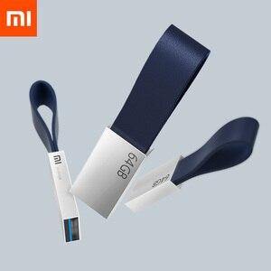 Image 1 - Oryginalny Xiaomi Mijia U dysku 64GB USB 3.0 wysokiej prędkości transmisji metalowy korpus kompaktowy rozmiar przenośny wzór na smycz