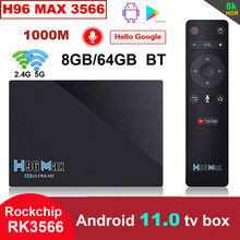 LEMFO H96 Max RK3566 2021 New Smart TV BOX Android 11 2.4G 5G Wifi 4GB 8GB 32GB 64GB H96max 8K TV Box Android 11.0 Google Play