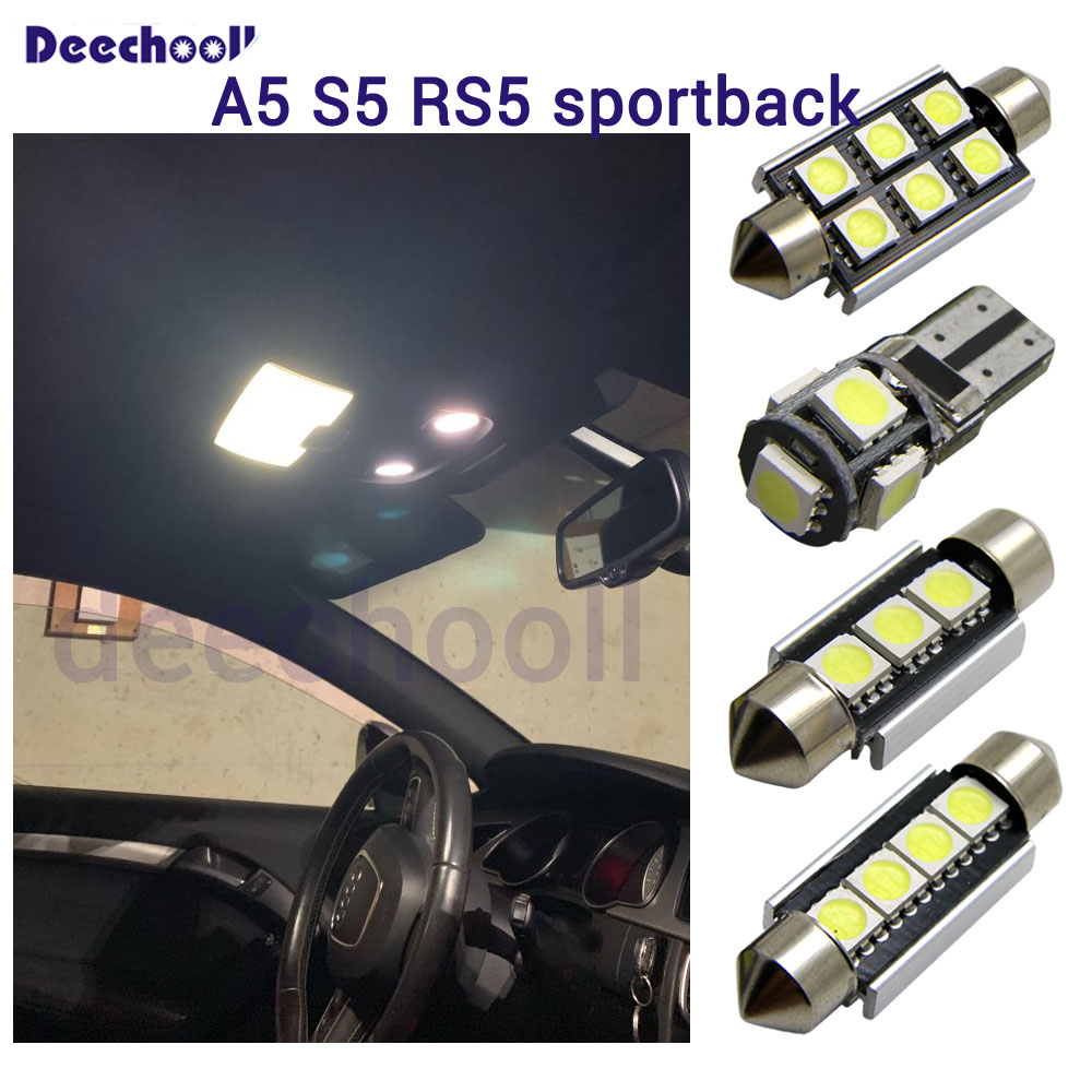 24 X Canbus LED bulbs license plate lamp+ interior map dome light kit for <font><b>Audi</b></font> for <font><b>Audi</b></font> <font><b>A5</b></font> S5 RS5 <font><b>sportback</b></font> 2009-2015 image