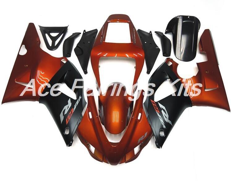 New ABS Full fairings Kit Fit for Yamaha YZF R1 YZF1000 R1 1998 1999 98 99 fairing set bodywork orange black