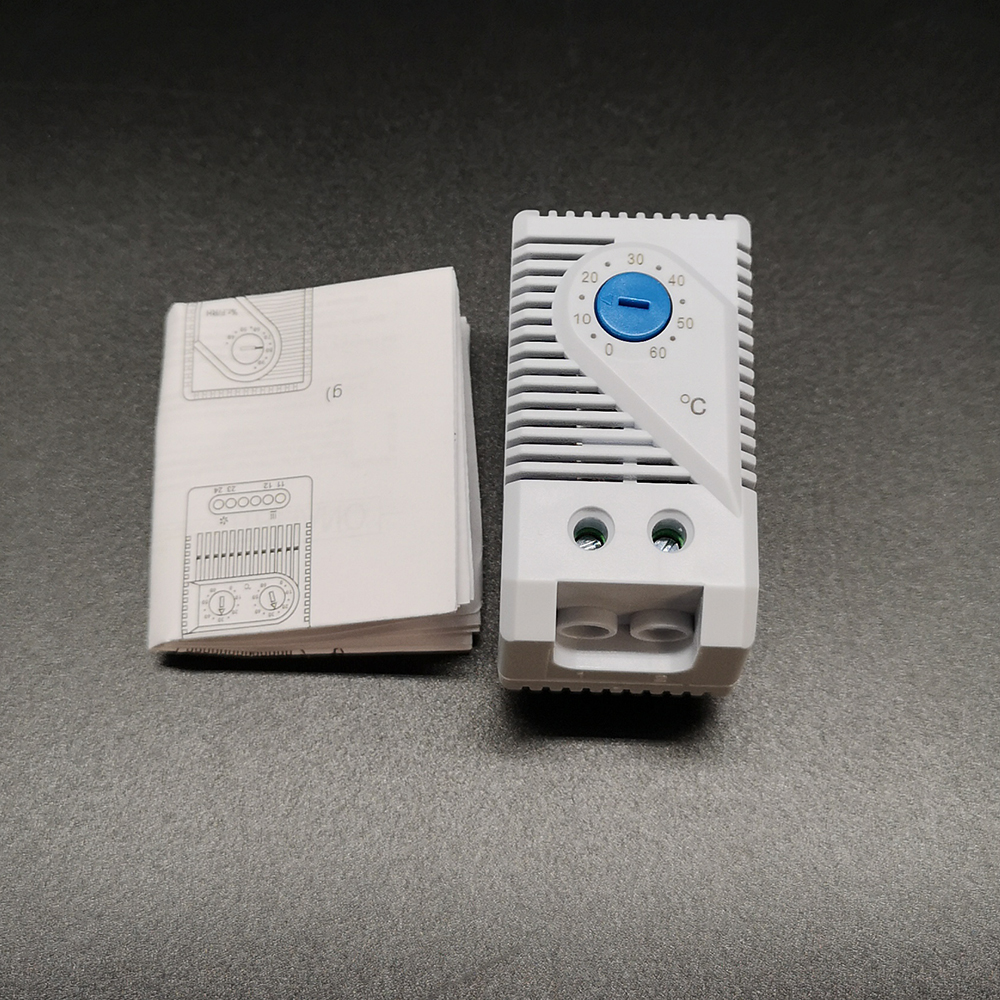 Termostato Industrial de pequeño tamaño KTS011 para controlador de temperatura del armario, normalmente abierto (0 ~ + 60 grados) KTO011 NC tipo-10 ~ 50 C