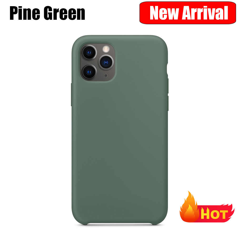 Funda de silicona Original de lujo con logotipo para iPhone 11 Pro Max para iPhone 7 De Apple 8 Plus X XS Max XR 6 6S 5 5S SE
