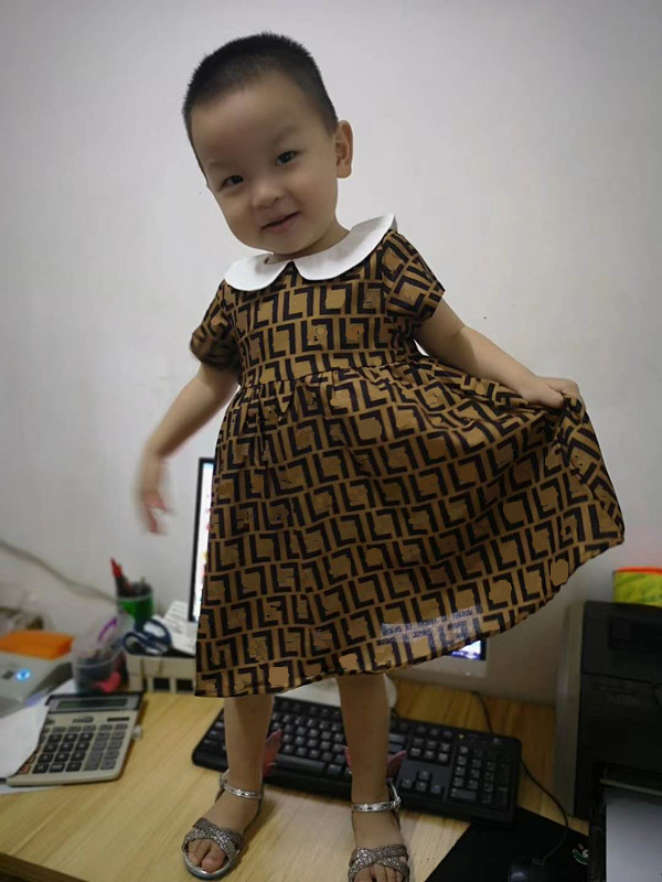 Girls' Fashion Dresses 1-6 Year Old Baby Party Dress In Stock
