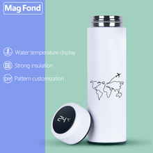 Travel 500ML Thermos Vacuum Flasks Temperature Display Stainless Steel Water Bottle Travel Coffee Tea Milk Mug Thermoes Cup Warm stainless steel thermoes vacuum flasks insulation mug cup fashion popular mug travel thermoses coffee and lovers cups 320ml