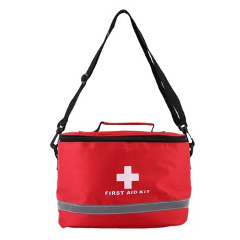 Outdoor First Aid Kit Sports Camping Bag Home Medical Emergency Survival Package Red Nylon Striking Cross Symbol Crossbody bag 5