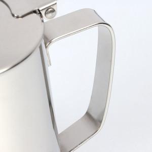 Image 3 - 600ml Stainless Steel Latte Art Cup with Lid Milk Foam Cup Coffee Set